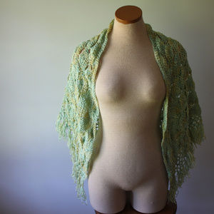 Vintage Hand Made Crochet Shawl